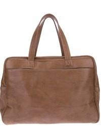 braune Leder Reisetasche von Maison Martin Margiela