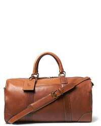 braune Leder Reisetasche von Polo Ralph Lauren