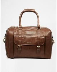 braune Leder Reisetasche