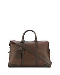 braune Leder Reisetasche von Santoni