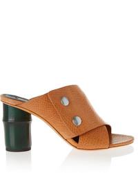 braune Leder Sandaletten von Acne Studios