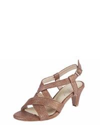 braune Leder Sandaletten von Andrea Conti