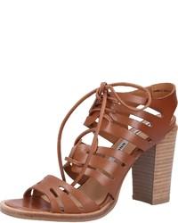 braune Leder Sandaletten von Bronx