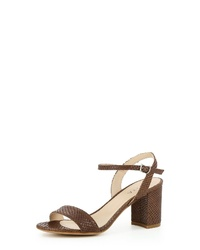 braune Leder Sandaletten von Evita
