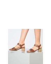 braune Leder Sandaletten von Gabor