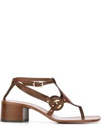 braune Leder Sandaletten von L'Autre Chose
