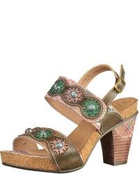 braune Leder Sandaletten von Laura Vita