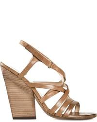 braune Leder Sandaletten von Marsèll