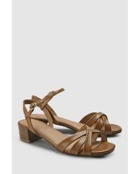 braune Leder Sandaletten von NEXT