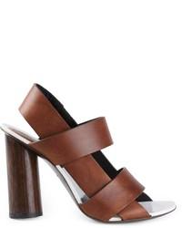braune Leder Sandaletten von Proenza Schouler