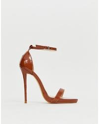 braune Leder Sandaletten von SIMMI Shoes