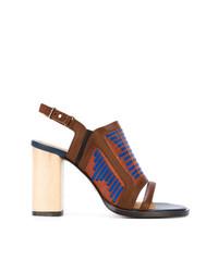 braune Leder Sandaletten von Thakoon Addition