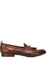 braune Leder Slipper mit Quasten von Silvano Sassetti