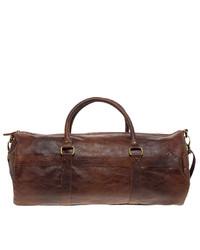 braune Leder Sporttasche von Asos