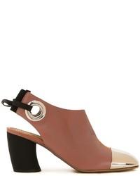 braune Leder Stiefeletten von Proenza Schouler