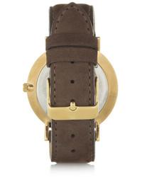 braune Leder Uhr von Larsson & Jennings