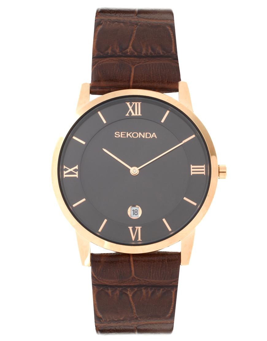 braune Leder Uhr von Sekonda