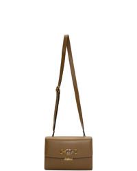 braune Leder Umhängetasche von Gucci