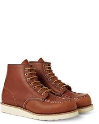 Braune Lederarbeitsstiefel von Red Wing Shoes