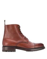 braune Lederformelle stiefel von Berwick Shoes
