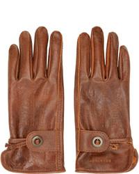 braune Lederhandschuhe von Belstaff