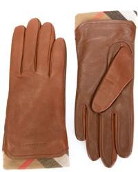 braune Lederhandschuhe von Burberry
