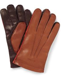 braune Lederhandschuhe von Etro
