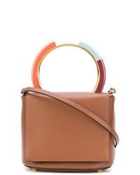 braune Lederhandtasche von Marni
