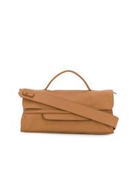 braune Lederhandtasche von Zanellato