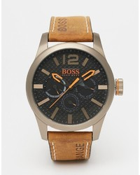 braune Lederuhr von Boss Orange