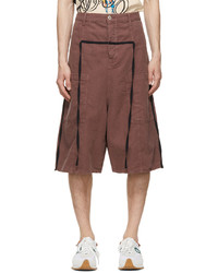 braune Leinen Shorts