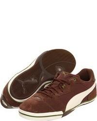 braune niedrige Sneakers