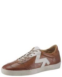 braune niedrige Sneakers von La Martina