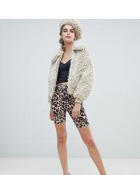 braune Radlerhose mit Leopardenmuster von New Look