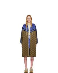 braune Regenjacke von Gucci