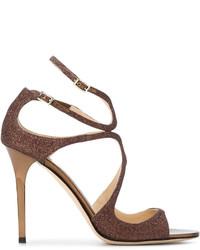 braune Sandaletten von Jimmy Choo