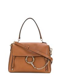 braune Satchel-Tasche aus Leder von Chloé