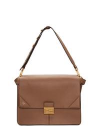braune Satchel-Tasche aus Leder von Fendi