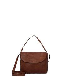 braune Satchel-Tasche aus Leder von HAROLD´S