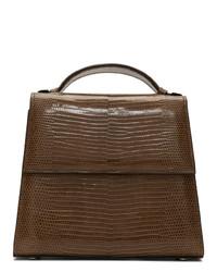 braune Satchel-Tasche aus Leder von Hunting Season