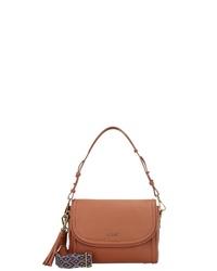 braune Satchel-Tasche aus Leder von Marc O'Polo