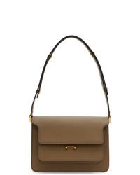 braune Satchel-Tasche aus Leder von Marni