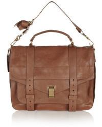 braune Satchel-Tasche aus Leder von Proenza Schouler