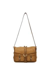 braune Satchel-Tasche aus Leder von Rag and Bone