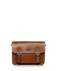 braune Satchel-Tasche aus Leder von SID & VAIN