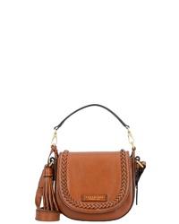 braune Satchel-Tasche aus Leder von The Bridge