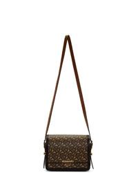 braune Satchel-Tasche aus Segeltuch von Burberry