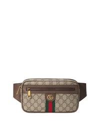 braune Segeltuch Bauchtasche von Gucci