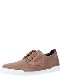 braune Segeltuch niedrige Sneakers von camel active