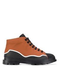 braune Segeltuch niedrige Sneakers von Camper